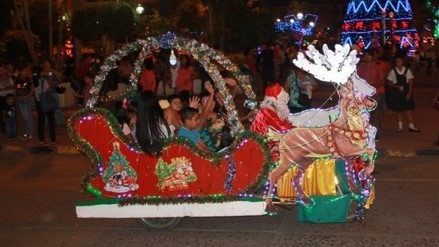 Tarapoto: trineos montados en mototaxis son la atracción por Navidad