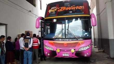Sutran impuso 30 multas a buses en terminales interprovinciales