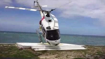 Facebook: turista se salvó de milagro de un accidente de helicóptero