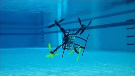 Crean un dron capaz de desplazarse por el aire y el agua