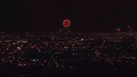Navidad 2015: así se vieron los fuegos artificiales en el Perú