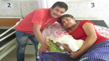 Padres de bebé que nació en Navidad buscan como padrino a César Acuña