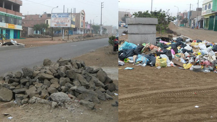 Vecinos denuncian presencia de montículos de basura en Ancón