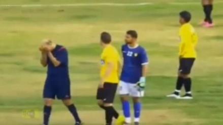 YouTube: árbitro no aguantó y lloró de impotencia en pleno partido