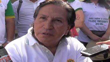 Alejandro Toledo inició campaña electoral por el norte del Perú