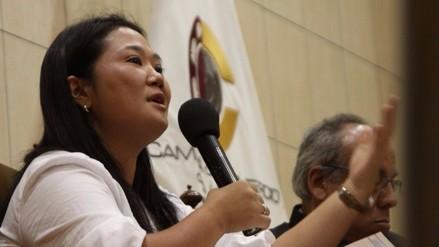 Keiko Fujimori: Chávez, Cuculiza y Aguinaga no irán a la reelección