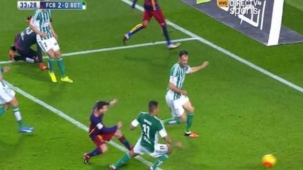 Barcelona vs. Betis: Juan Vargas no pudo evitar gol de Lionel Messi
