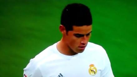 YouTube: James Rodríguez fue cambiado e hizo este gesto al banco de Real Madrid
