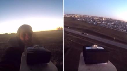 YouTube: Envía su anillo de compromiso al espacio y esto es lo que grabó