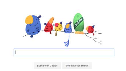 Google espera la llegada del Año Nuevo con un doodle animado