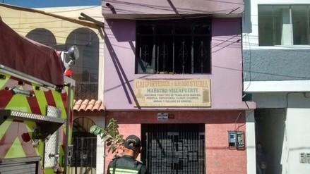 Tres personas afectadas en incendio de vivienda