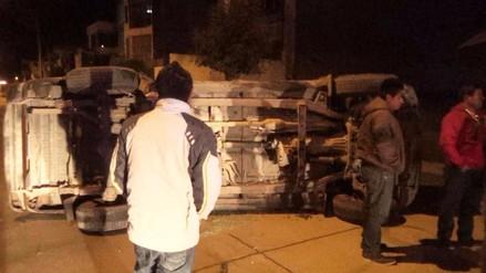 Huancayo: conductores ebrios provocan accidentes en el primer día del año