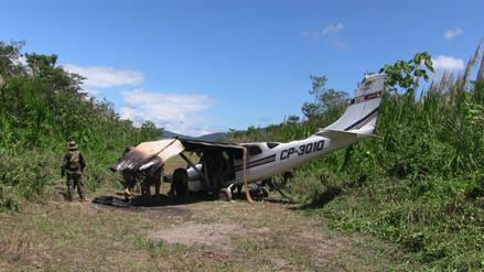 Vraem: avioneta de narcotraficantes colisiona en pista de aterrizaje clandestina