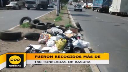 Trujillo: fueron recogidas 140 toneladas de basura tras el año nuevo