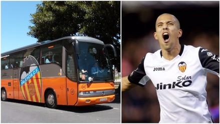 YouTube: Valencia estrena lujoso bus para partido contra Real Madrid (VIDEO)