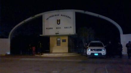 Chiclayo: se registran disparos en la Universidad Pedro Ruiz Gallo