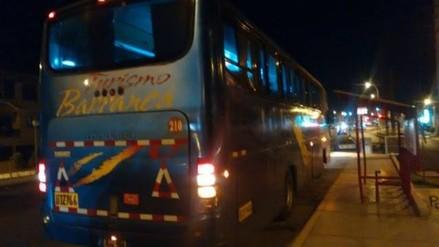 Roban 20 mil soles en asalto a bus interprovincial