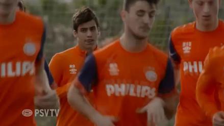 YouTube: Luiz da Silva tuvo su primera práctica en el PSV Eindhoven