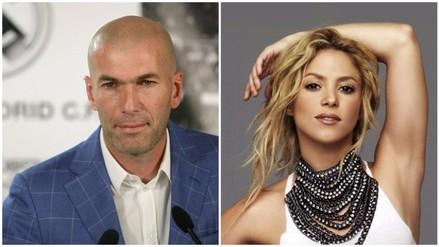 Twitter: el día que Zinedine Zidane 'fichó' a Shakira por el Real Madrid