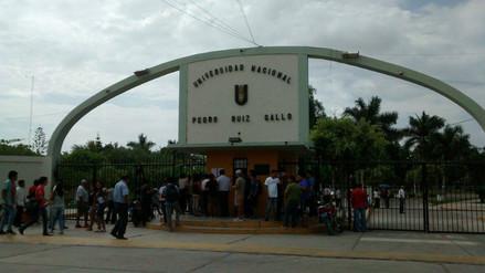 Lambayeque: labores en UNPRG quedaron suspendidas hasta el jueves