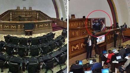Cuadro de Hugo Chávez desaparece del Parlamento venezolano