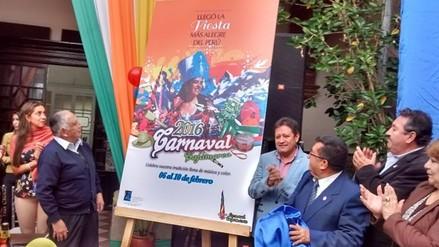 Presentan de manera oficial afiche y programa del carnaval cajamarquino