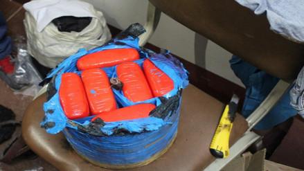 Intervienen a sujeto con 12 kilos de cocaína en terminal terrestre