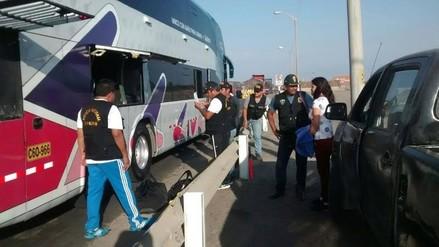 Intervienen bus que transportaba droga camuflada en maletas