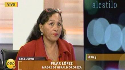 Madre de Gerald Oropeza: Partido de Acuña me invitó para postular al Congreso