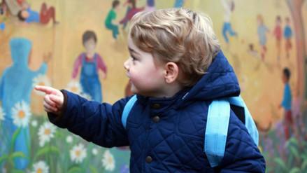 El príncipe Jorge pasó así su primer día en la guardería