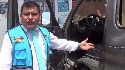 Gerente de transporte denunció haber sido víctima de secuestro por conductor de combi
