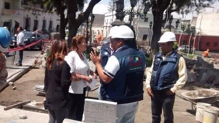 Alcaldesa encargada inspecciona obras en barrio San Lázaro