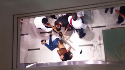 Video muestra a joven que cayó de escalera eléctrica de Ripley