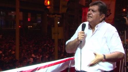 """Alan García: Alianza con Lourdes Flores es """"una bandera de esperanza"""""""