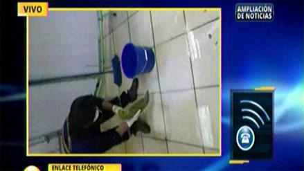 Llovizna afectó al área de emergencia del hospital Loayza