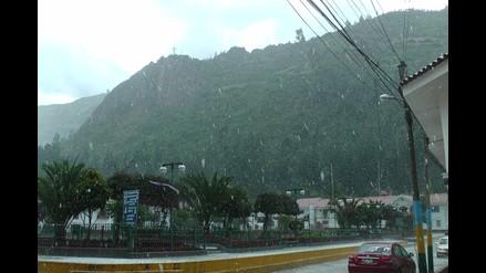 Huari: inusual granizada afecta cultivos en Chavín de Huántar