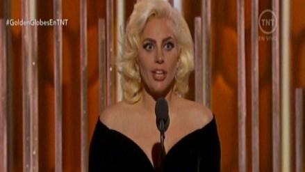 Globos de Oro: Lady Gaga ganó su primer premio como actriz