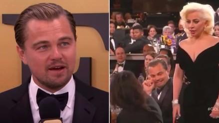 Leonardo DiCaprio explica incidente con Lady Gaga