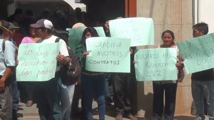 Pobladores exigen a Hidrandina medidores para energía eléctrica