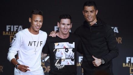 Balón de Oro 2015: Messi y Cristiano Ronaldo son los mejores para Neymar