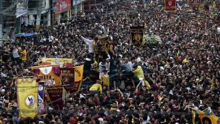 Millones asistieron a la procesión del Nazareno Negro en Manila