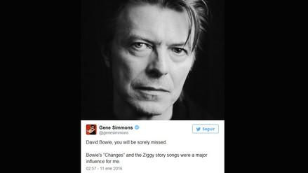 David Bowie: famosos lamentan su muerte en redes sociales