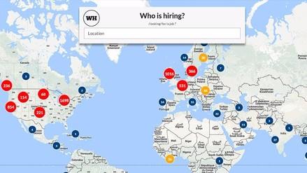 Who Is Hiring, un buscador de trabajo a nivel global mediante un mapa