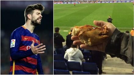 Barcelona: Gerard Piqué amenazado por hincha del Espanyol con una cabeza de cerdo