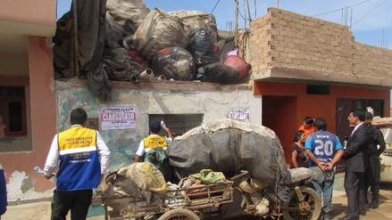 Huaura: Clausuran depósito de reciclaje que ponía en riesgo salud pública