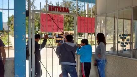 Estudiantes tomaron las instalaciones de la Universidad de Cajamarca