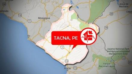 Sismo de 5.4 grados se registró en la ciudad de Tacna