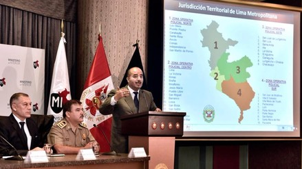 Región Policial Lima estará formada por cuatro zonas operativas contra la delincuencia
