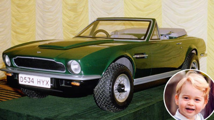 El príncipe Jorge heredó su primer auto deportivo