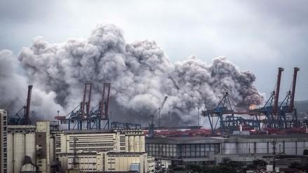 Brasil: Nube de gas tóxico en puerto afectó a 39 personas